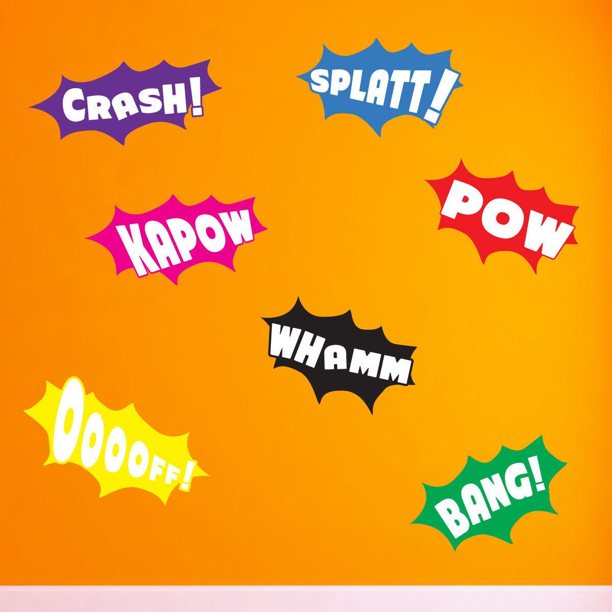 Batman Pow Whamm Splatt Bang Kapow Pow Crash Ooooff Wall