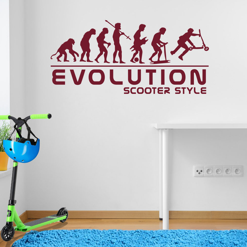 Stunt scooter stunted evolution of man children street wall image02 amipublicfo Gallery