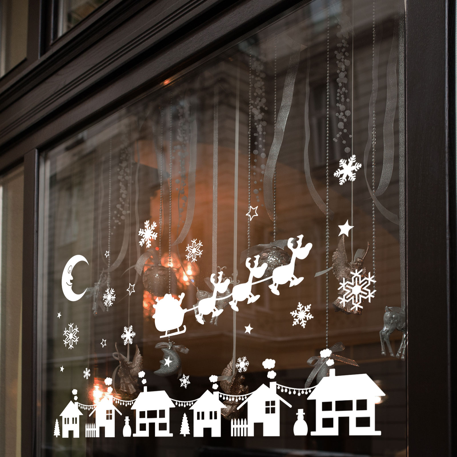 Christmas Xmas Display Shop Window Wall Decorations Decals