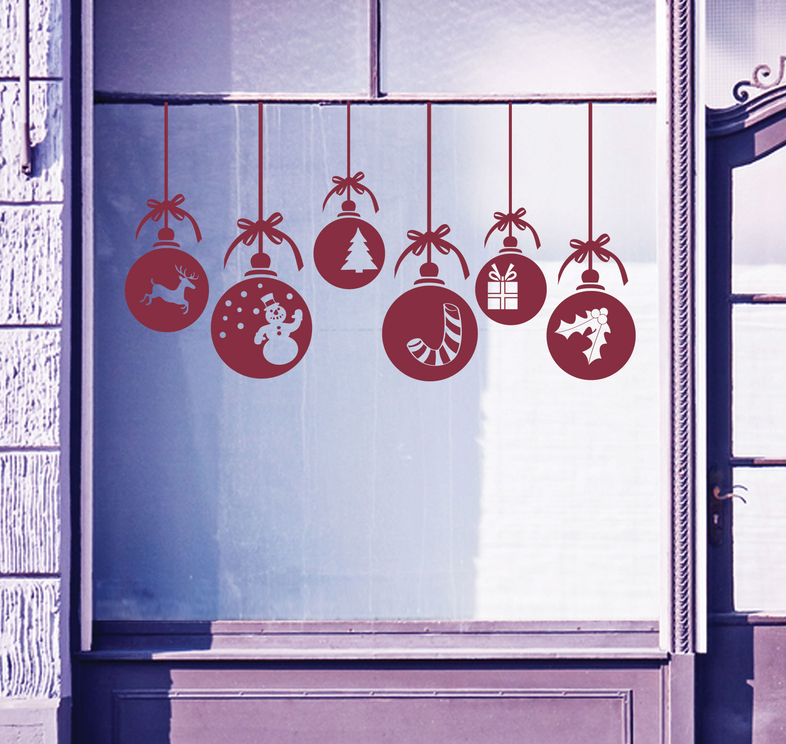 xmas wall decorations shenra com christmas xmas baubles shop window wall decorations decals window