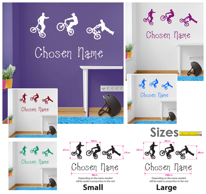 childrens wall stickers mural decor sticker diy c deco bmx bmx childrens wall stickers art mural decor sticker diy c