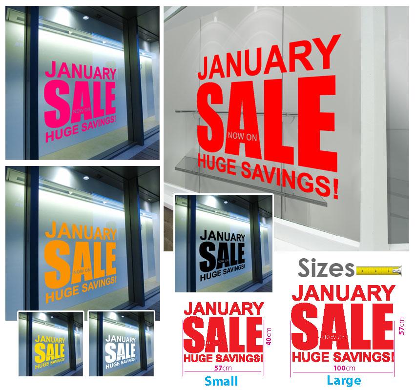Sale Shop Window Transfers & Stickers Decals Retail ...